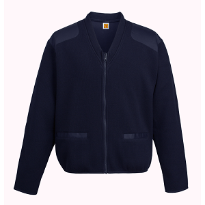 Fleece Lined Zip Front V-Neck Cardigan